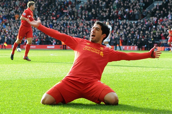 Liverpool Suarez Celebration