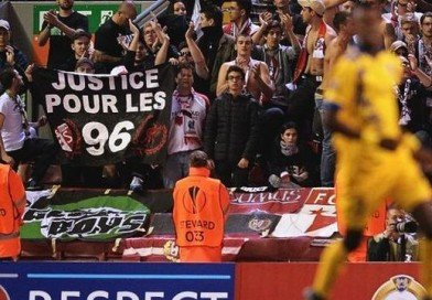 "PICTURE: FC Sion Supporters Unveil Touching ""Justice for the 96"" Banner at Anfield"