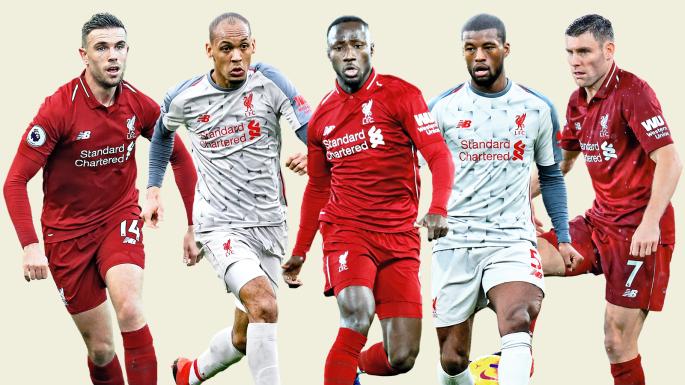 Liverpool midfielders