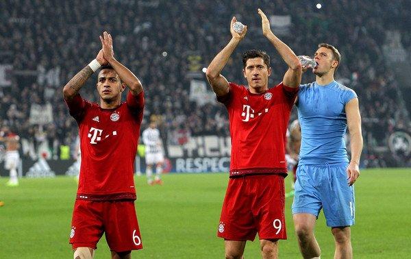 Thiago and Lewandowski Bayern