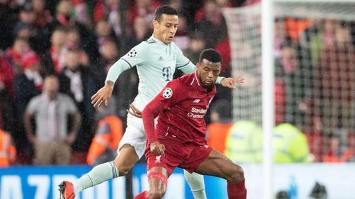 Wijnaldum Thiago Liverpool vs Bayern Champions League