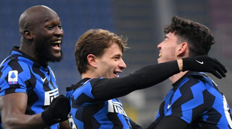 Bastoni Barella Lukaku Inter Milan